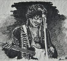 Jimi Hendrix by Sean Huffman