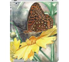 Butterfly on Yellow Flower iPad Case/Skin