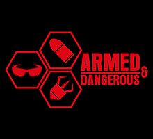 Armed and Dangerous - Prints, Stickers, iPhone & iPad Cases by monochromefrog