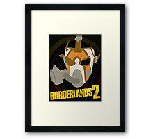 Borderlands 2 poster - Psycho 2 Framed Print