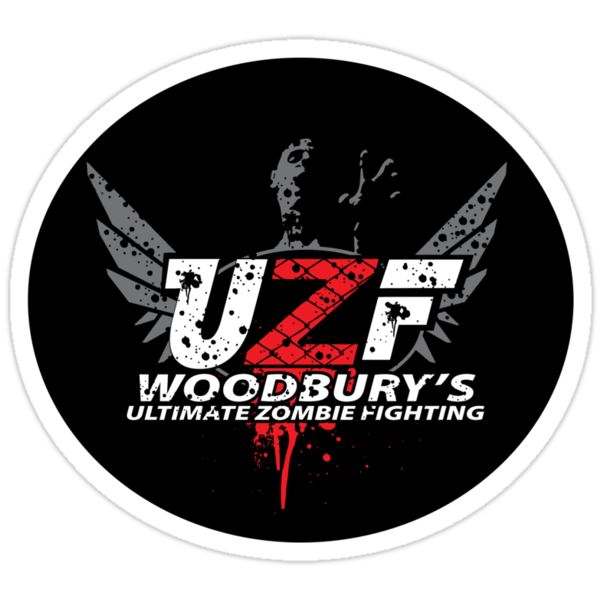 Woodbury Ultimate Zombie Fighter(sticker) by GreenHRNET