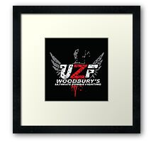 Woodbury Ultimate Zombie Fighter Framed Print