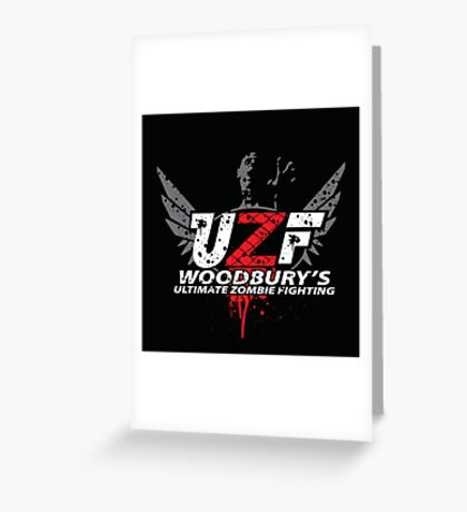 Woodbury Ultimate Zombie Fighter Greeting Card