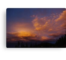 Colourful evening clouds, Rocky Mountains, Colorado Canvas Print