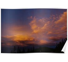 Colourful evening clouds, Rocky Mountains, Colorado Poster