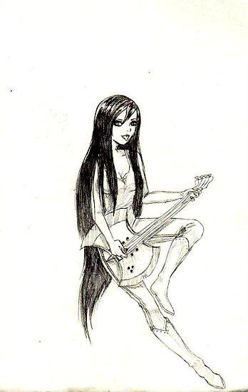 Marceline the Vampire Queen by SweetDizzy