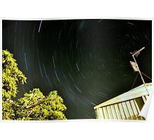Backyarder star trails Poster