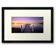 Safety Beach Jetty Sunset Framed Print