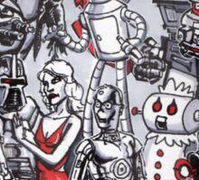 ROBOTS!!! Sticker