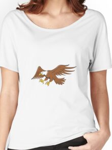 American Bald Eagle Swooping Cartoon Women's Relaxed Fit T-Shirt