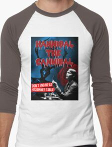 Hannibal the Cannibal - B-Movie Poster Men's Baseball ¾ T-Shirt