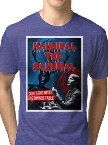 Hannibal the Cannibal - B-Movie Poster Tri-blend T-Shirt