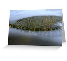 Gold&Silver drops and wavelets Greeting Card