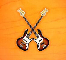 Double fender jazz bass lefty v1 ipad Case by goodmusic