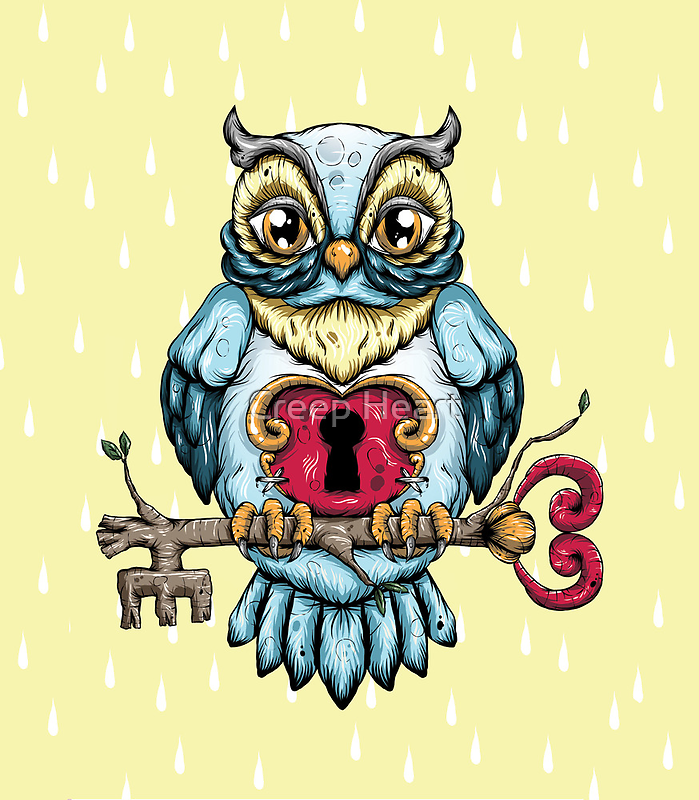Owl With Key by Ella Mobbs