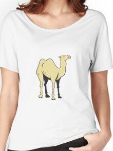 Camel Side View Cartoon Women's Relaxed Fit T-Shirt