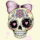 Yellow Sugar Skull by Ella Mobbs
