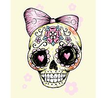 Yellow Sugar Skull Photographic Print
