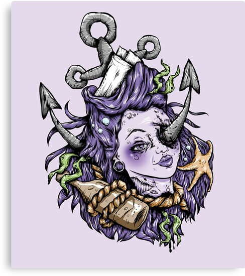 Purple Severed Anchor Head by Creep Heart