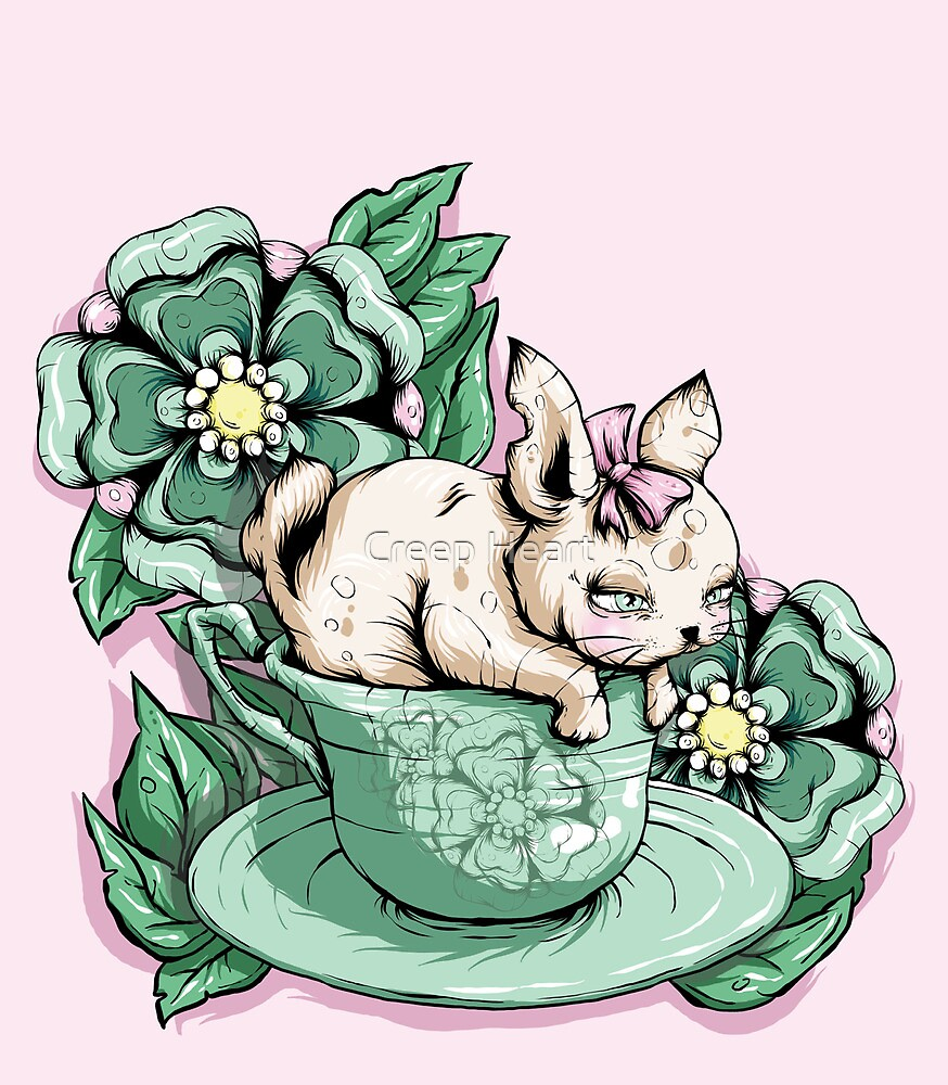 Bunny in Tea Cup by Creep Heart