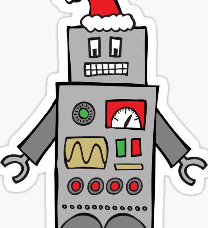Santa Robot Sticker