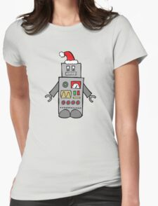 Santa Robot Womens Fitted T-Shirt