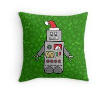 Santa Robot Throw Pillow