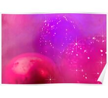 Holiday baubles in pink Poster