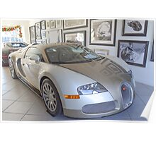 Bugatti - White and Gold Poster
