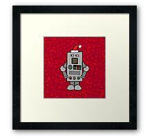 Santa Robot Framed Print