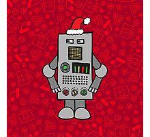Santa Robot Photographic Print