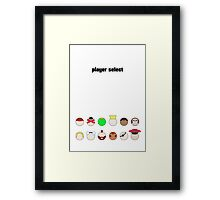 Player Select Minimal Poster Framed Print