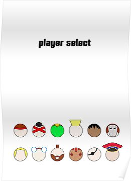Player Select Minimal Poster by konman96