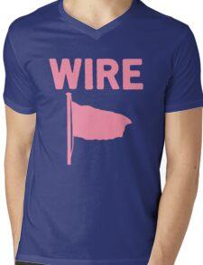 Wire - Pink Flag Mens V-Neck T-Shirt