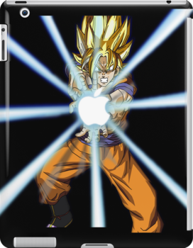 Dragonball Z Goku Kamehamapple by kevinlartees