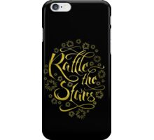 Rattle the Stars (Black and Gold II) iPhone Case/Skin