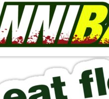 "Hannibal ""Eat Flesh"" Sticker"