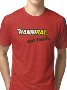 "Hannibal ""Eat Flesh"" Tri-blend T-Shirt"