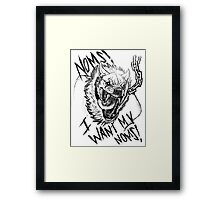 Mr. Googball Wants Nom Noms! Framed Print