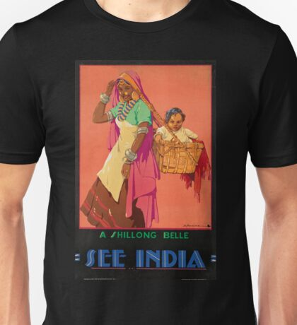 Vintage poster - India Unisex T-Shirt