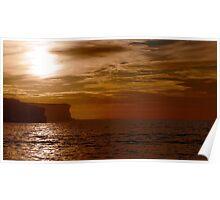 North Head sunrise halo artistic Sydney Australia Poster
