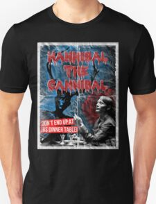 Hannibal the Cannibal - Vintage B-Movie Poster Unisex T-Shirt
