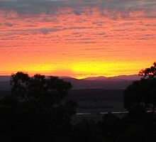 Sunrise near Whittlesea, Victoria by Heather Samsa