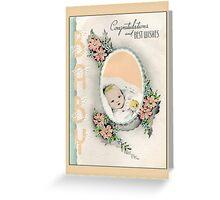 Congratulations Baby Greetings Greeting Card