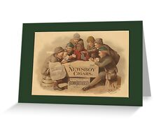 Newsboys Advertising Greetings Greeting Card
