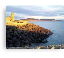 Lyme Regis View To Golden Cap Canvas Print
