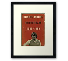 Ronnie Moore - Rotherham Framed Print