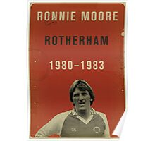 Ronnie Moore - Rotherham Poster