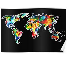 watercolored world Poster