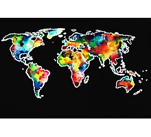 watercolored world Photographic Print